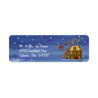 Adressetiketter för en julnatt