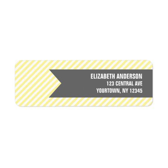 Adressetiketter för gultrandmönster
