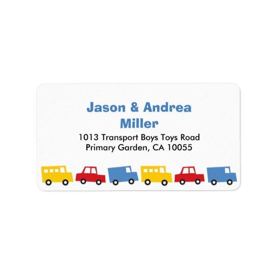 Adressetiketter för lastbil för buss för bil för