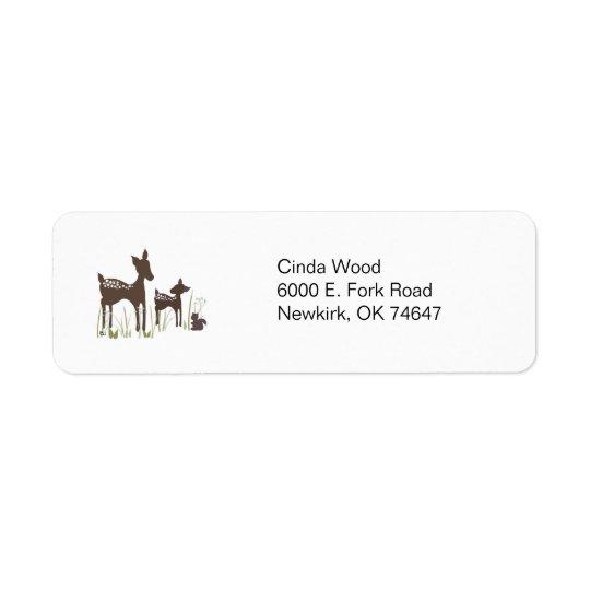 Adressetiketter för pilhjortskog