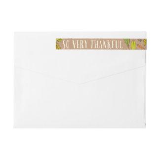 Adressetiketter för sjal för kuvert för etikettband