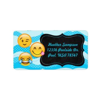 Adressetiketter för svart tavla för Emoji