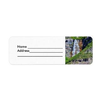 Adressetiketter för Utah vattenfall #1b