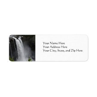 Adressetiketter:  Snoqualmie nedgångar Returadress Etikett