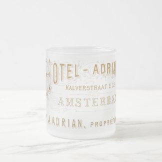 Adrian för vintageAmsterdam hotell annonsering Frostad Glasmugg
