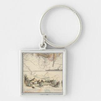 Adrica Fyrkantig Silverfärgad Nyckelring