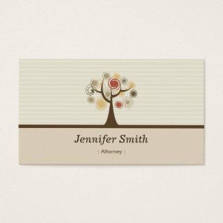 Advokat - elegantt naturligt tema visitkort