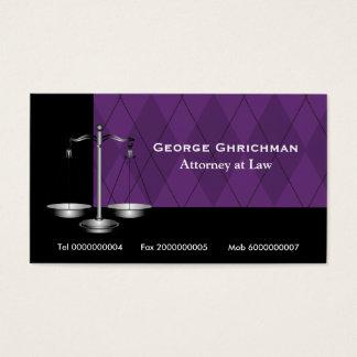 Advokat på lagfjäll av rättvisasvartlilor visitkort