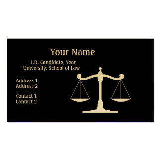 Advokatsvart Set Av Standard Visitkort