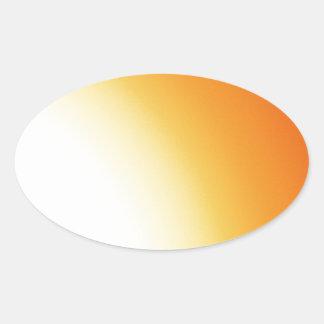 Aegean gryning ovalt klistermärke