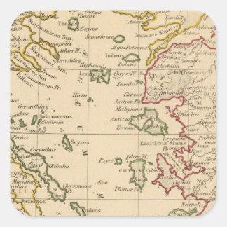 Aegean hav fyrkantigt klistermärke