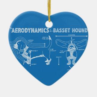 Aerodynamicsen av en Bassethund Julgransprydnad Keramik