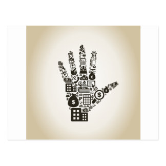 Affär en hand2 vykort