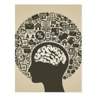 Affär ett huvud vykort