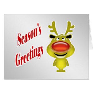 Affären Julhälsningar roligt rensilver Jumbo Kort
