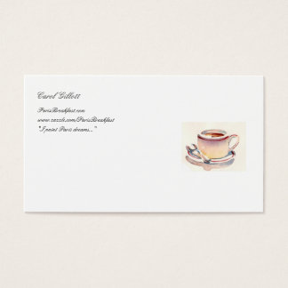 Affärs-kort för Petit Dejeuner Visitkort
