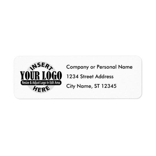 Affärsadressetiketter Returadress Etikett