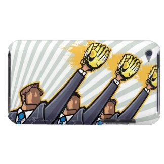 Affärsfolk som ha på sig baseballhandsken Case-Mate iPod touch case