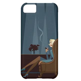 Affärskvinna som röker cigarren iPhone 5C fodral
