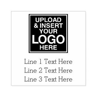 Affärslogotyp med 3 linjer av text stämpel