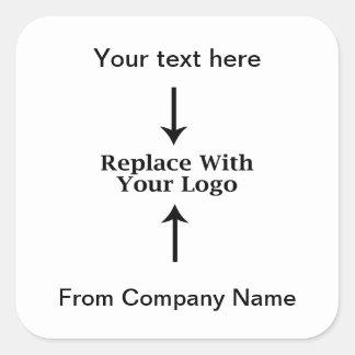 Affärslogotypen tackar dig klistermärkear fyrkantigt klistermärke