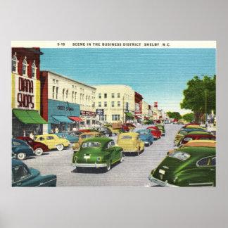 Affärsområde, Shelby, North Carolina vintage Poster