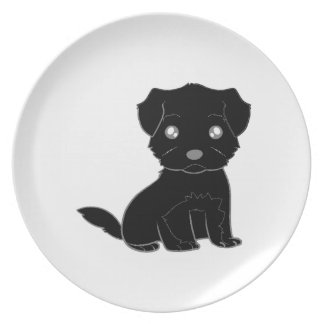 affenpinscher cartoon.png dinner plate