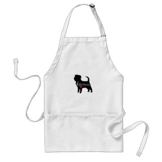 Affenpinscher med kärlek för hjärtahund avelnvalp förkläde