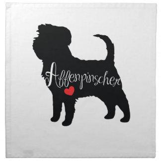 Affenpinscher med kärlek för hjärtahund avelnvalp tygservett