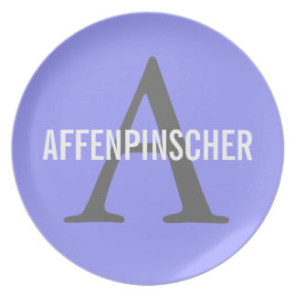AffenpinscherMonogram Dinner Plates