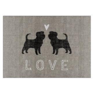 AffenpinscherSilhouettes med hjärta och kärlek