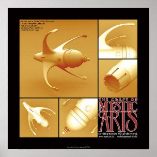 Affisch 003 för Mystic konster Poster