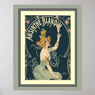 Affisch 16 x 20 för AbsintheBlanqui art nouveau