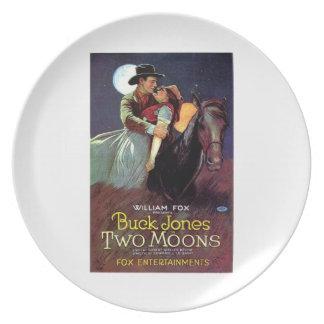 Affisch 1920 för film för vintage för bockJones tv Tallrik