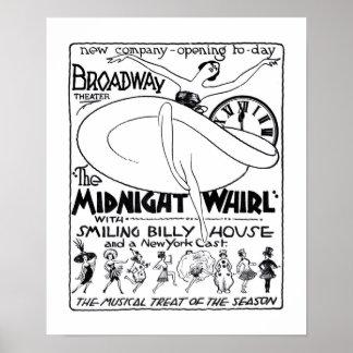 Affisch 1922 för annons för tidning för Vaudeville