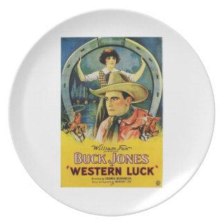 Affisch 1924 för film för vintage för bockJones we Tallrik