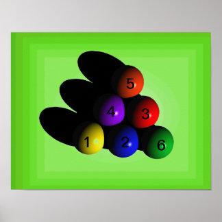 affisch 6 för biljard 6-Ball