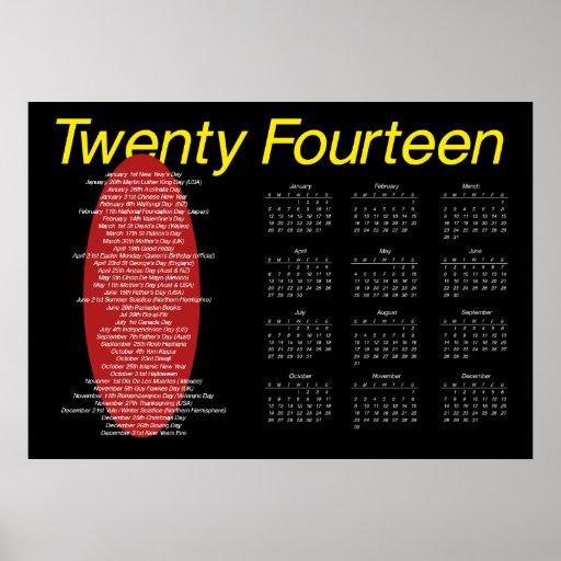 affisch för 2014 kalender