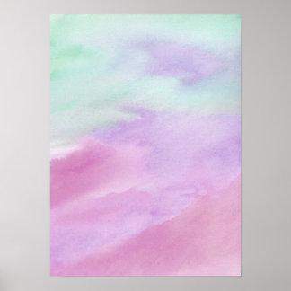 Affisch för akryl för vattenfärg för