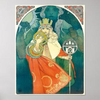Affisch för Alphonse Maria Mucha ~-art nouveau
