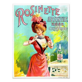 Affisch för annonsering för Rosinette Fototryck