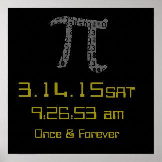 Affisch för anpassad design för Pi-dagmars 2015