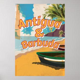 Affisch för Antigua och Barbudavintagesemester Poster