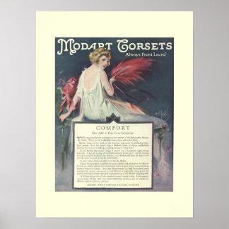 Affisch för art décoModart korsetter