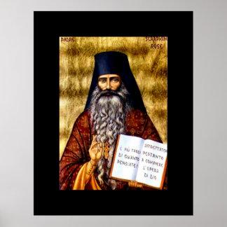 Affisch för art nouveau för Padre Seraphim rosa Poster
