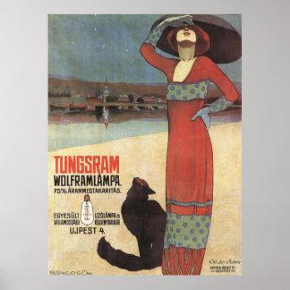 Affisch för art nouveauvintageannonsering poster