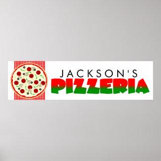 Affisch för baner för PizzeriaPizzaparty Poster