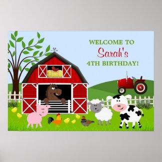 Affisch för Barnyardboskapfödelsedag Poster