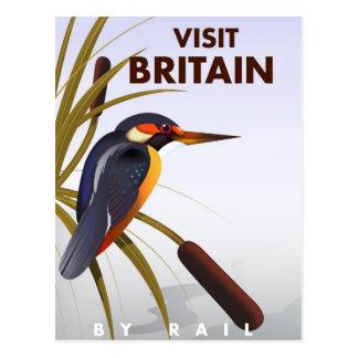 Affisch för besökBritannien vintage resor Vykort