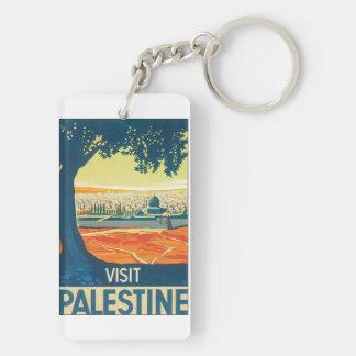 Affisch för besökPalestina vintage resor